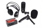 FINE ELITE INTERNATIONAL LTD STUDIOPACK202 Studio Recording Kit with USB Audio Interface Condenser Mic and Studio Headphones