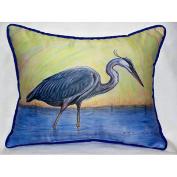 Betsy Drake HJ027 Blue Heron Art Only Pillow 15x22