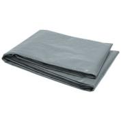 RoadPro RPHDTP-1012 3m x 3.7m Heavy Duty Polyethylene Tarp with Reinforced Corners - Grey
