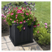 Mayne 4838-B Cape Cod Patio Planter 20x20 Black