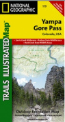 National Geographic TI00000119 Map Of Yampa-Gore Pass - Colorado