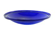 Achla Designs Garden Bird Baths 36cm . Cobalt Blue Bird Bath Crackle Glass Bowl CGB-14CB