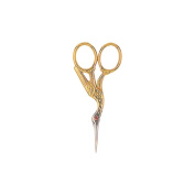 Red Ruby  .   Crystal Stork Scissors 7.6cm - 1.3cm -Gold Plated