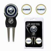 Team Golf NHL Buffalo Sabres Divot Tool Pack With 3 Golf Ball Markers
