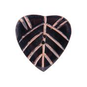 Handmade Horn Button, 5.1cm Heart Pink Carvings