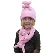 BearHands FHS-PPOO-PP S Hat Fleece Pink Poodle on Pink - Small