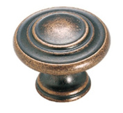 Amerock BP1586WC Inspirations Round Knob - Weathered Copper