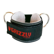 """Grizzly Fitness 8600-04 3"""" Leather Ankle Strap"""