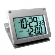 Natico Originals 10-166 Clk, Alm, Touch Panel Silver