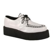 Demonia V-Creeper-502 2 Inch Platform White Pump Basic Veggie Creeper Shoe Size 10