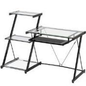 Z Line Designs ZL2021DBU Nero Desk and Bookcase