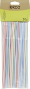 World Kitchen 1094975 50 Count Flex Neck Straws