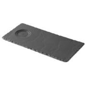 "Revol Basalt Tray with Cup Indent - 9.75"""" x 4.75"""" / 250 x 120mm. Box Quantity"