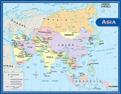 Teacher Created Resources TCR7652 Asia Map Chart 17X22