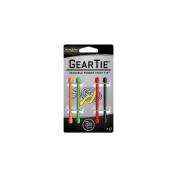 NiteIze 7.6cm Gear Tie 4-Pack (OrangeGreenRedBlack) 10g