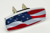 HitchMate Premier Series Hitch Cap Waving Flag