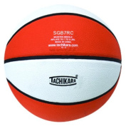 Tachikara SGB7RC.ORW Indoor-Outdoor Rubber 29.5 Basketball - Orange-White