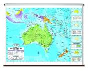 Universal Map 27977 Australia Advanced Political Wall Map-Roller