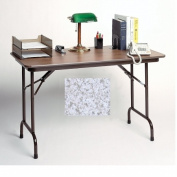 Correll Cf1848M-15 Melamine Top Folding Tables - Fixed Height - Gray Granite