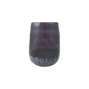 Flipo Group Limited FLA-SPECGLA-CH Speckled Glass Hurricane and Flameless Candle with Timer - Charcoal Grey
