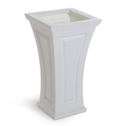 Mayne 4834W Cambridge Tall Planter - White