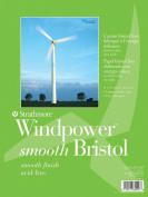 Strathmore ST642-14 36cm . x 43cm . Smooth Surface Windpower Tape Bound Bristol Pad - 15 Sheets