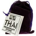 Thai Deodorant Stone 0118265 Stone in Velvet Pouch - 1 Pouch