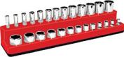 Mechanics Time Savers MTS721 .25 Dr. Bi-level Deep/Shallow Holder- Red