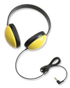 CALIFONE INTERNATIONAL CAF2800YL LISTENING FIRST STEREO HEADPHONES Y ELLOW