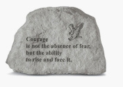 Kay Berry- Inc. 70820 Courage Is Not The Absence Of Fear - Eagle Garden Accent - 6.5 Inches x 4.5 Inches