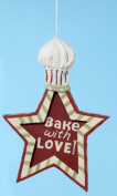 Mom's Kitchen Bake with Love Star Shape Chef Hat Christmas Ornament 15cm