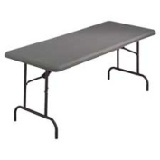 Iceberg 65237 - IndestrucTable TOO 1200 Series Resin Folding Table, 96w x 30d x 29h, Charcoal