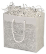 Bags & Bows by Deluxe 268-060306-EURO Clear Frosted High Density Euro Shoppers - Case of 200