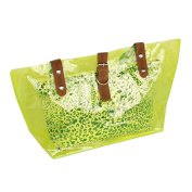 Blancho Bedding ZL618-GREEN Lucky Green Leopard Double Handle Leatherette Satchel Bag Handbag Purse Casual Styling