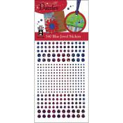 Hot Off The Press DAZ-1562 Dazzles Stickers -540 Blue Jewel