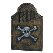Amscan 35462 22 Skull and Crossbones RIP Tombstone