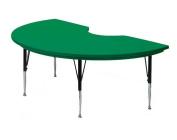 Correll AR4872-KID-29 Kidney-Shaped Resin Activity Table, 120cm x 180cm , Green