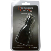 Professional Cable Car charger with USB port for iPod/iPhone White 1ft Clamshell