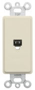 Leviton Mfg R76-40649-00T Light Almond Phone Jack