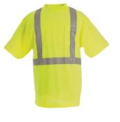 Berne Apparel HVK002YWR520 52/2X-Large Regular Hi-Visibility Short Sleeve Pocket Tee - Yellow