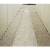 E.S. Robbins 110003 27 in. x 80 ft. Ribbed Clear Vinyl Runner