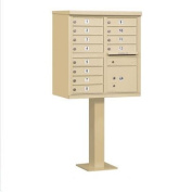Salsbury Industries 3312SAN-U Cluster Box Unit - 12 A Size Doors - Type II - Sandstone - USPS Access