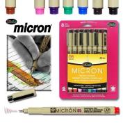 Sakura 30066 8-Piece Pigma Micron Assorted Colours Ink Pen Set