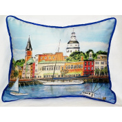 Betsy Drake HJ728 Annapolis City Dock Art Only Pillow 15x22