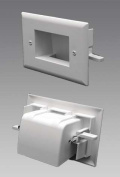 Datacomm Easy Mount Recessed Cable Plate Mounting Wings Elim