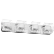 Dainolite V6015-4W-PC 4-Light Clear-Frosted Glass Sconce - Polished Chrome