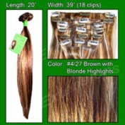 Brybelly Holdings PRST-20-427 No. 4-27 Dark Brown with Golden Blonde Highlights - 50cm