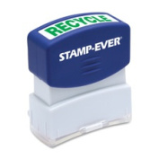 Stamp-Ever Pre-Inked Message Stamp, Recycle, Stamp Impression Size