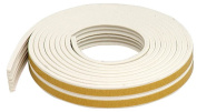 M-d Products 5.18m White Extreme Temperature K Profile Weather Strip 02618