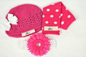Puppy Luv Glam PLG1052_HotPink Leg Warmer Gift Set - Hot Pink